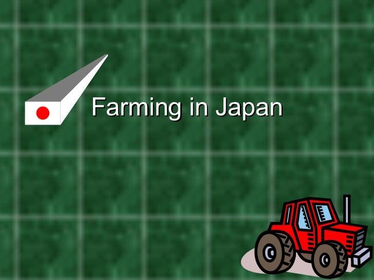 Farming in Japan