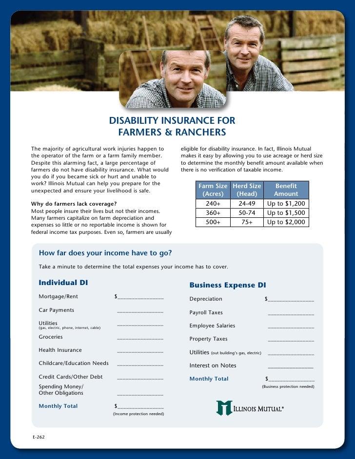 Farm/Ranch Disability Insurance