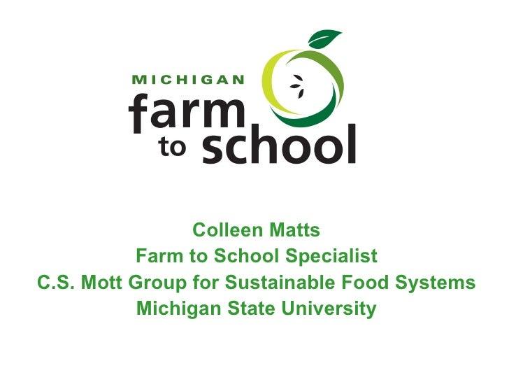 Matts, Michigan - Organizing FtS Statewide