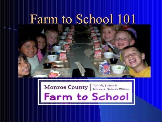 Farm to school 101 thesing