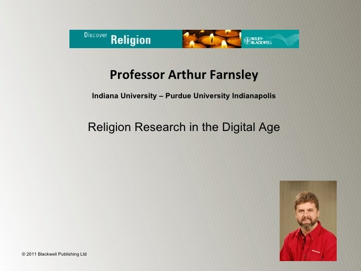 Religion Research in a Digital Age - Professor Arthur Farnsley