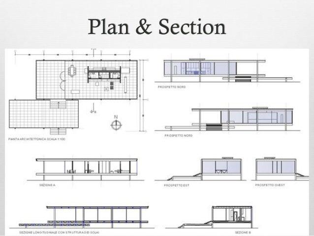 Farnsworth house Construction Details   Plan  amp  Section    Structure  Farnsworth House