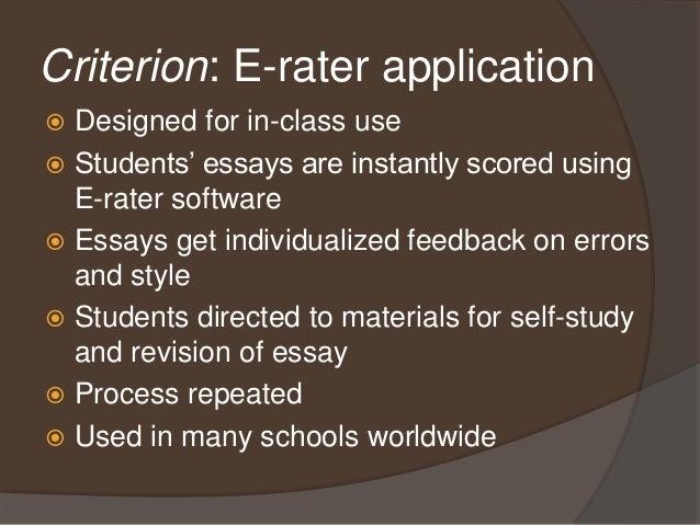 criterion online essay evaluation service