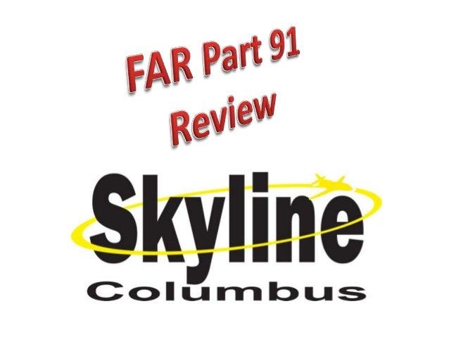 Far part 91 review