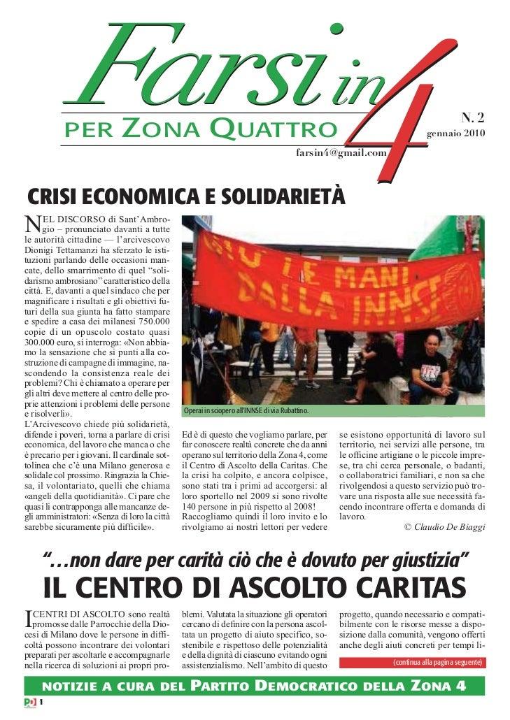 PER              F in               arsi         ZONA QUATTROCRISI ECONOMICA E SOLIDARIETÀN     EL DISCORSO di Sant'Ambro-...