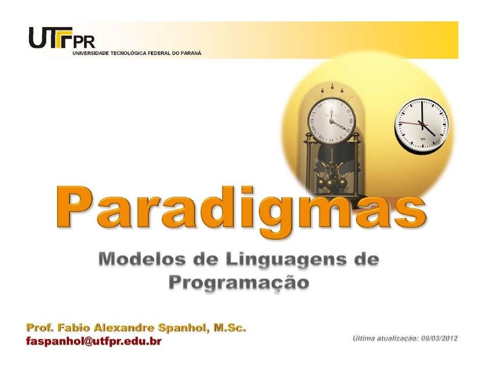 Paradigmas de Linguagens de Programação