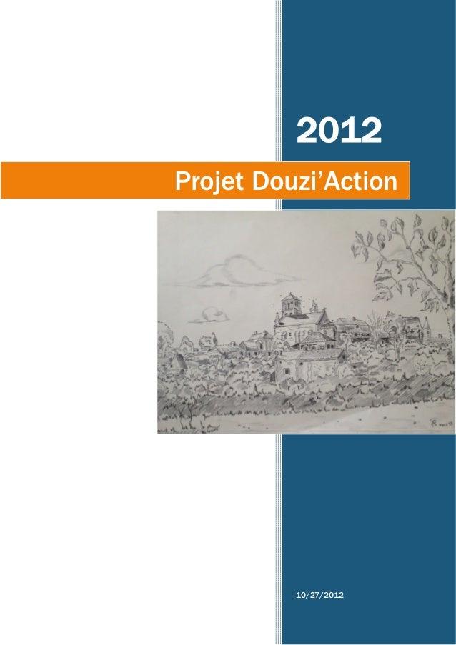 2012Projet Douzi'Action          10/27/2012