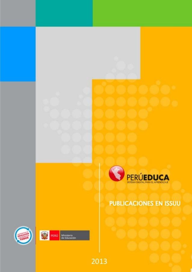 PUBLICACIONES EN ISSUU  2013