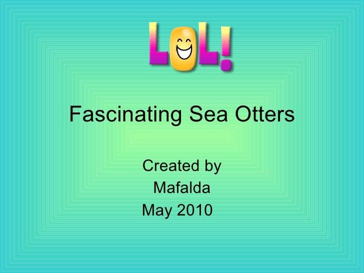 Fascinating Sea Otters Created by Mafalda May 2010