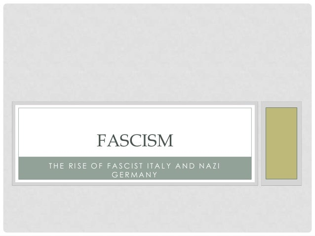 an introduction to fascism in germany and italy Fascism in germany: how hitler destroyed the world fascism in germany robin blick 1975 introduction neither does fascism in germany intend in any way to.