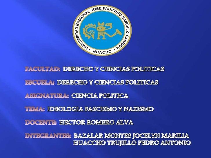 FACULTAD:  DERECHO Y CIENCIAS POLITICAS<br />ESCUELA:  DERECHO Y CIENCIAS POLITICAS<br />ASIGNATURA:  CIENCIA POLITICA<br ...