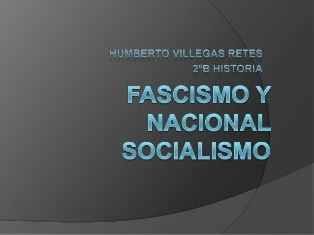 EL FASCISMO                               El fascismo fue un                               movimiento polito fundado      ...