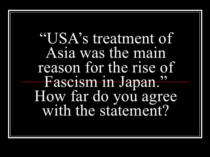 fascist japan The fascist effect reto hofmann uncovers the ideological links between the fascist governments and cultures of japan and italy, shedding light on the formation of fascism's global.