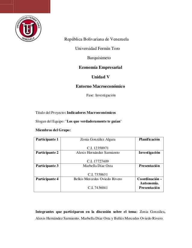 República Bolivariana de Venezuela                        Universidad Fermín Toro                               Barquisime...