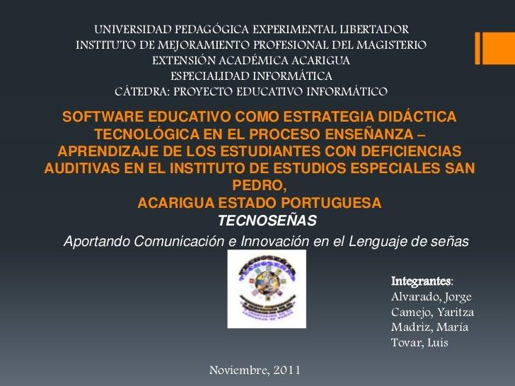 UNIVERSIDAD PEDAGÓGICA EXPERIMENTAL LIBERTADOR    INSTITUTO DE MEJORAMIENTO PROFESIONAL DEL MAGISTERIO                EXTE...