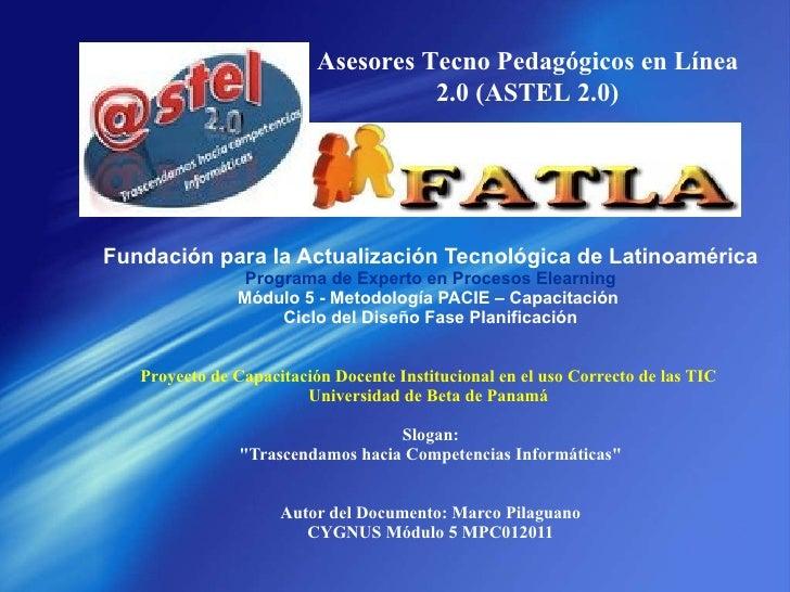 Fase Planificacion Fatla Marco Pilaguano mpc012011
