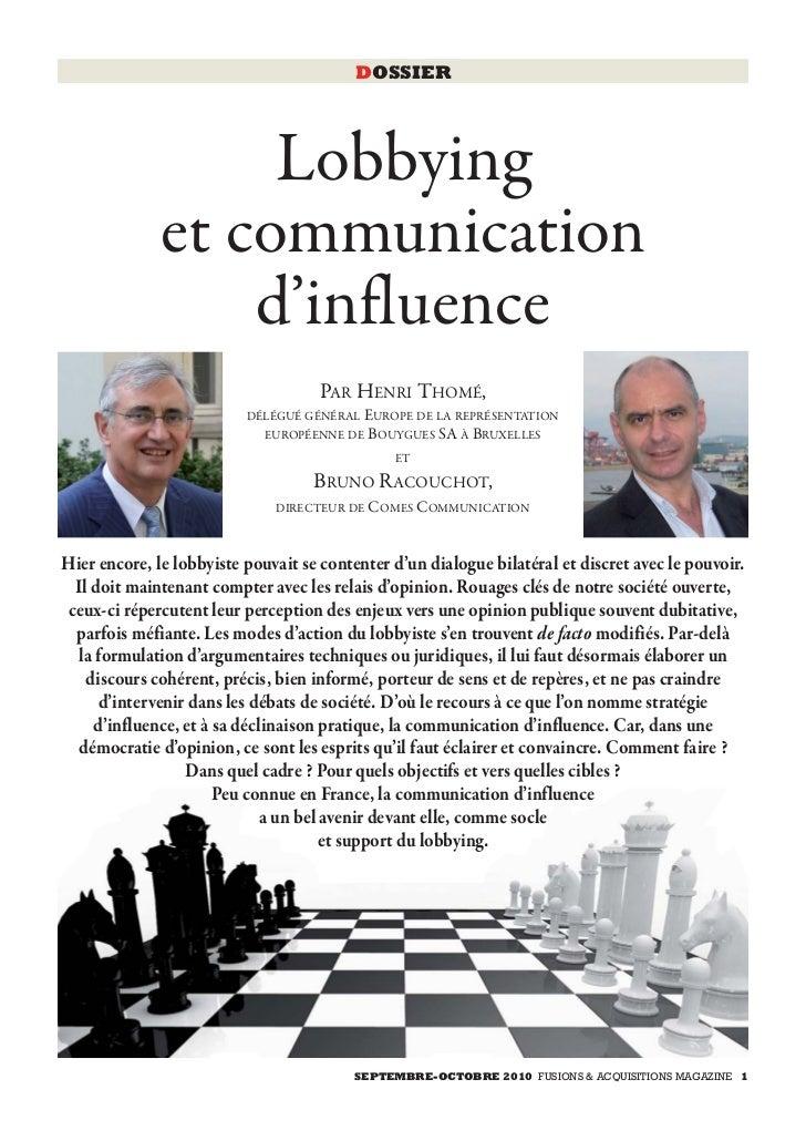 Fa septembre2010 lobbying_et_communication_dinfluence
