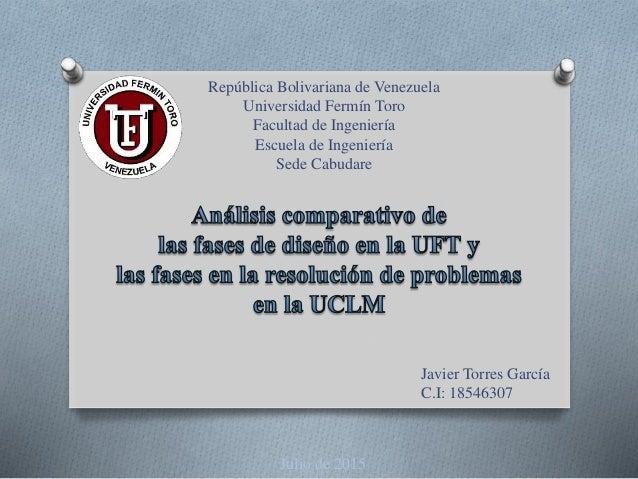 Javier Torres García C.I: 18546307 Julio de 2015 República Bolivariana de Venezuela Universidad Fermín Toro Facultad de In...