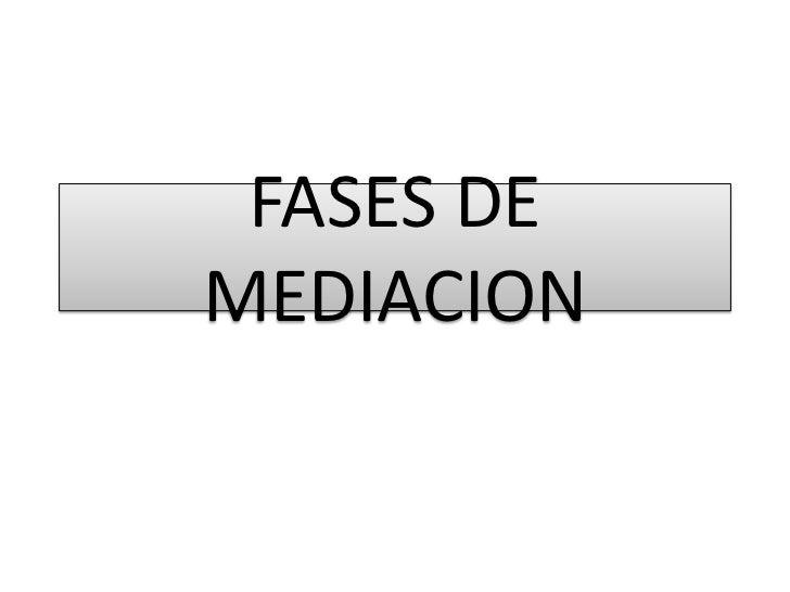 FASES DE MEDIACION <br />