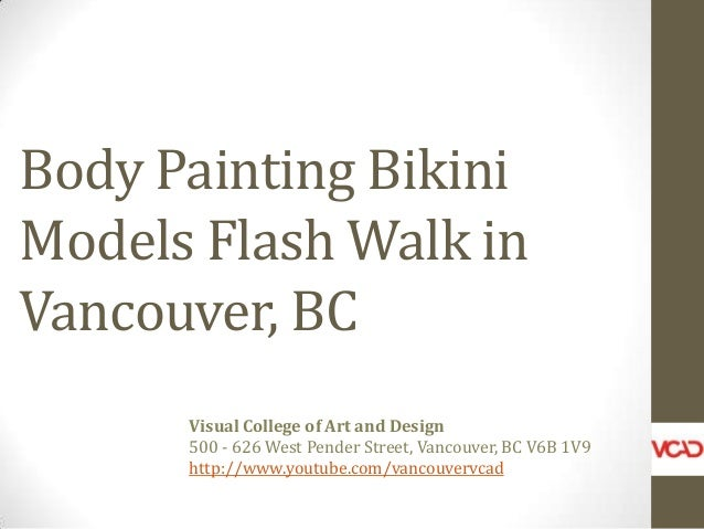 Fashion in the City Body Painting Bikini Models in Vancouver BC