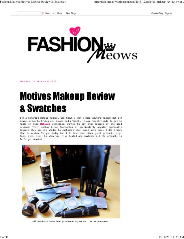 Fashion Meows Motives Cosmetics