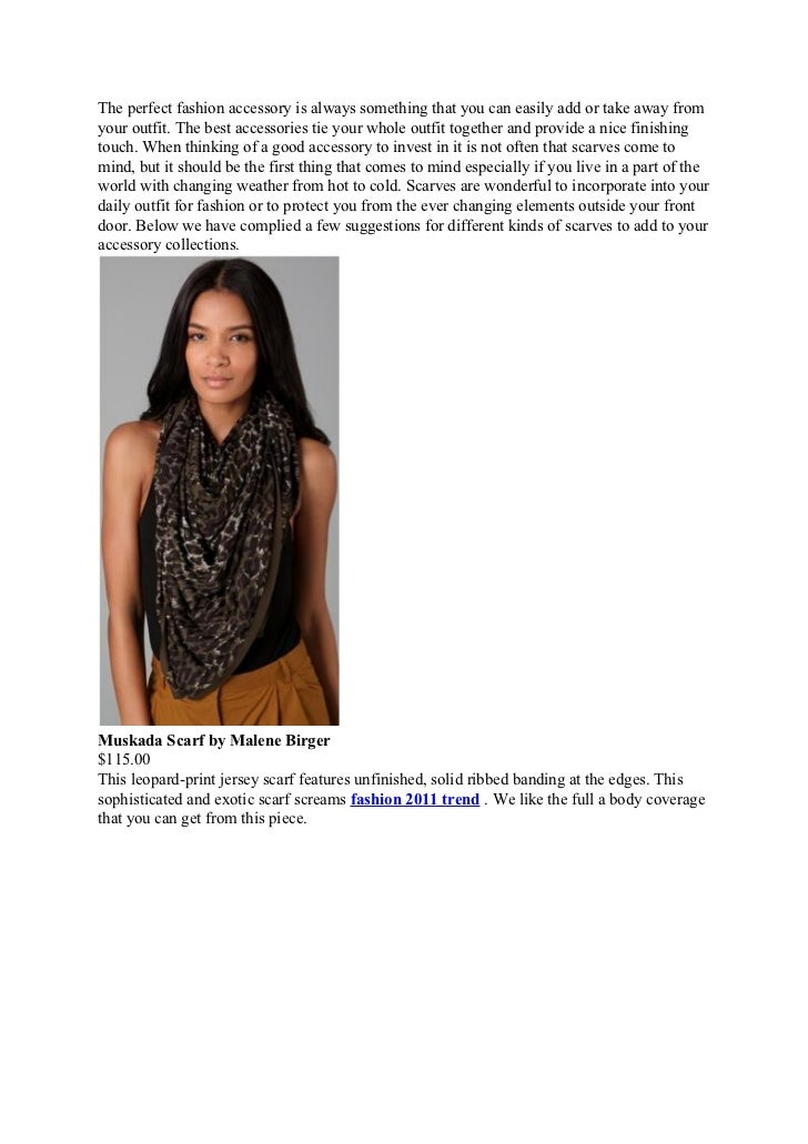 Fashion 2011 trend scarves splurge vs. steals