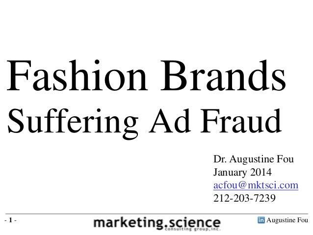 Fashion Brands Suffering Digital Ad Fraud by Augustine Fou Technical Forensics