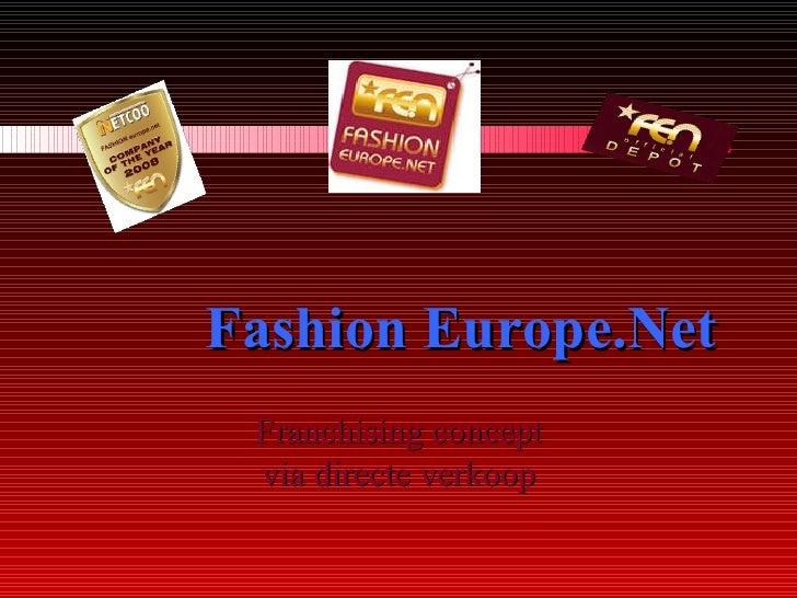 FE.N Präsentation Netherlands