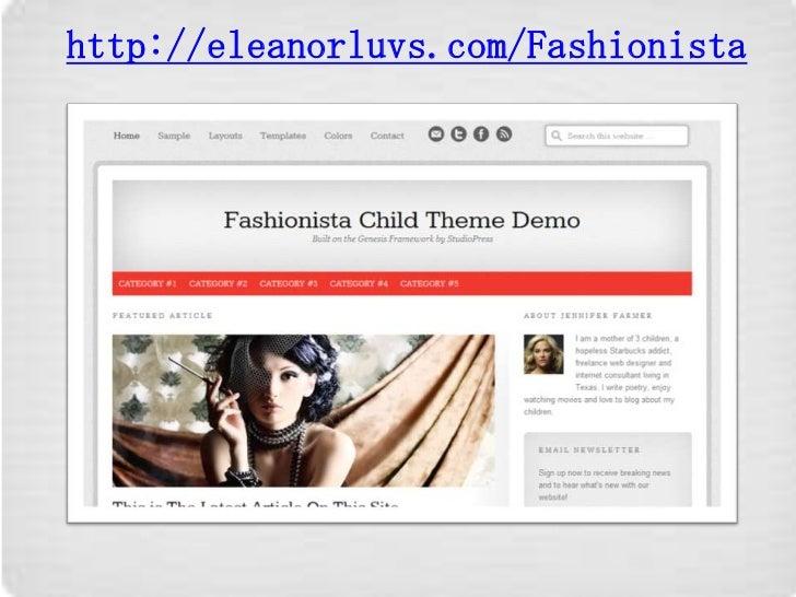 Fashionista a MarketPlace Child Theme at StudioPress.com