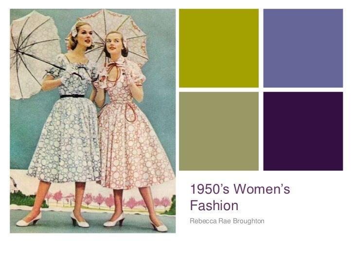 +    1950's Women's    Fashion    Rebecca Rae Broughton