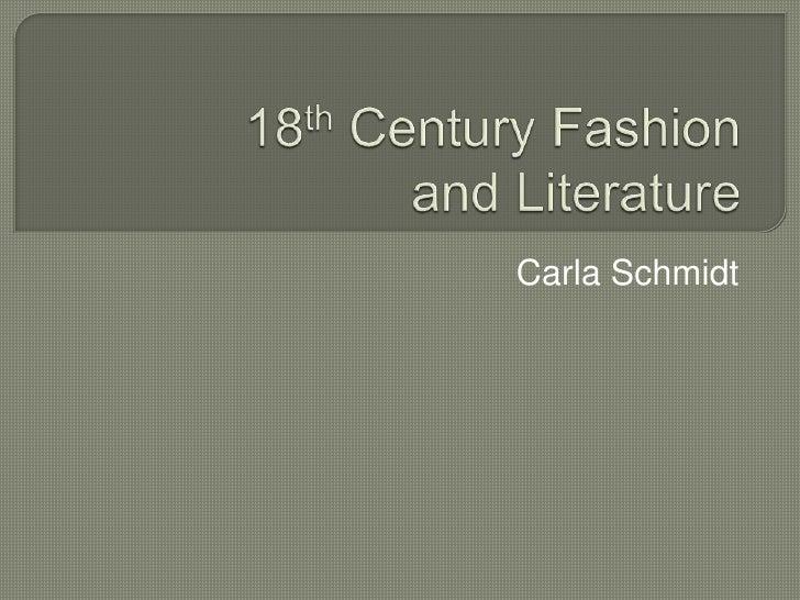 18 Century British Literature Fashion Presentation