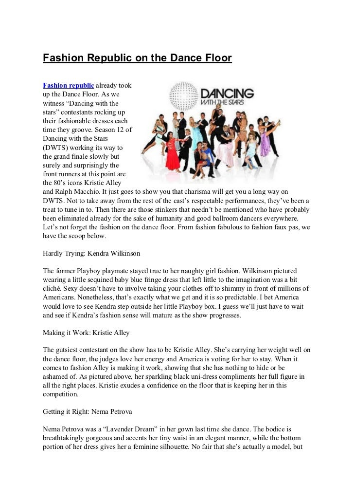 """Fashion Republic on the Dance FloorFashion republic already tookup the Dance Floor. As wewitness """"Dancing with thestars"""" c..."""
