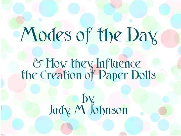 Fashion Styles and Paper Dolls