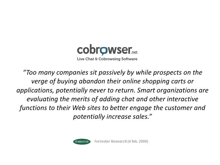 """Too many companies sit passively by while prospects on the verge of buying abandon their online shopping carts or applica..."