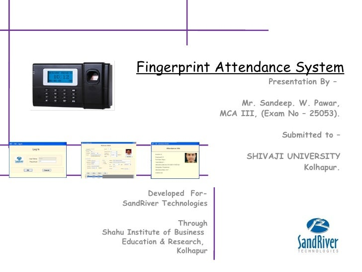 thesis on fingerprint based attendance system
