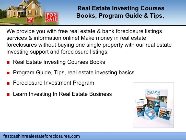 fastcashinrealestateforeclosures.com  We provide you with free real estate & bank foreclosure listings services & informat...
