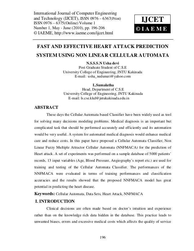 Fast and effective heart attack prediction system using non linear