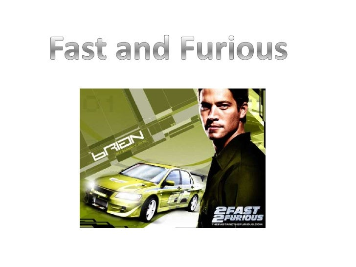 The first of the fast and furious films, starringVin Diesel and Paul Walker, was released in2001. Paul Walker plays an und...