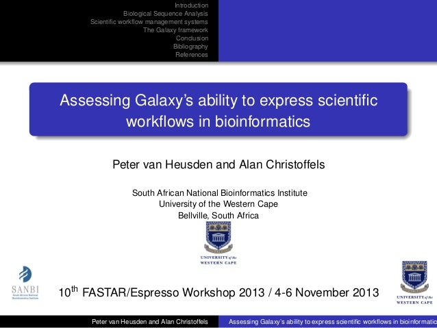 Assessing Galaxy's ability to express scientific workflows in bioinformatics