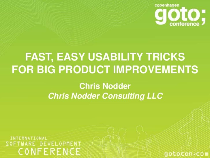 Fast, easy usability tricks for big product improvements