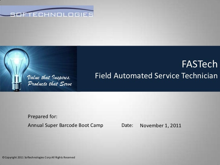 FASTech                   Value that Inspires,                    Field Automated Service Technician                   Pro...