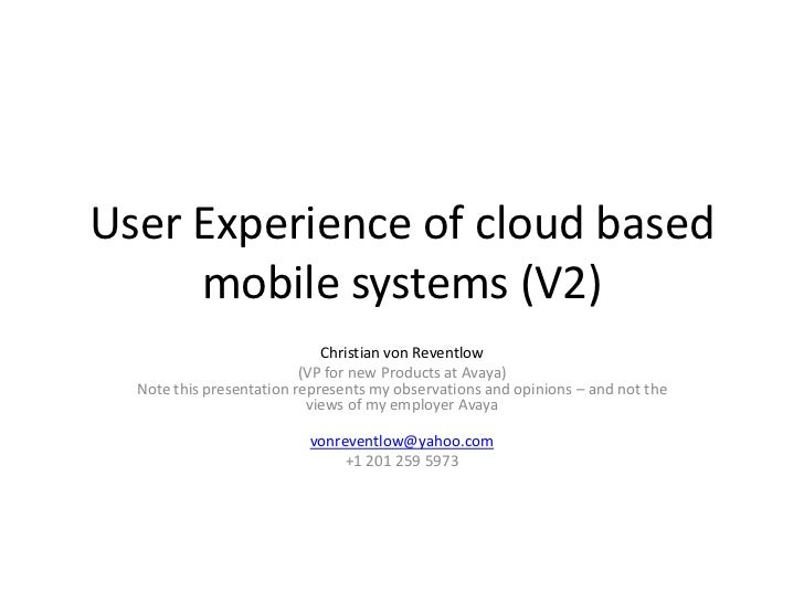 Faster cloud based web for mobile devices   latency and how to accelerate by christian von reventlow v1