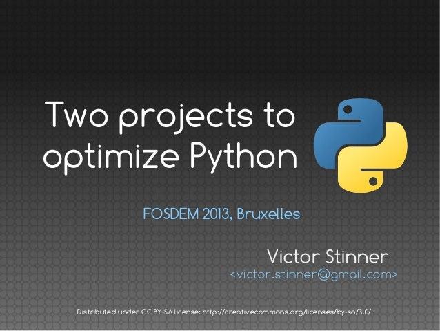 Faster Python, FOSDEM