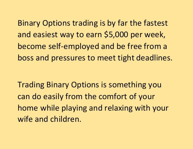 Binary options seminar london