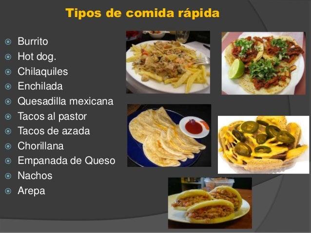 Fast food comida rapida for Una comida rapida
