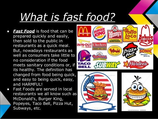 essay fast food unhealthy