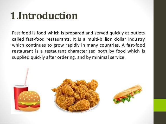 Short argumentative essay about fast food