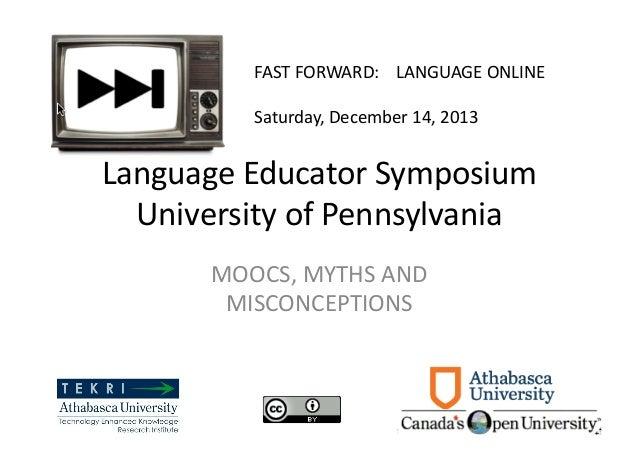 MOOCs, Myths and Misconseptions