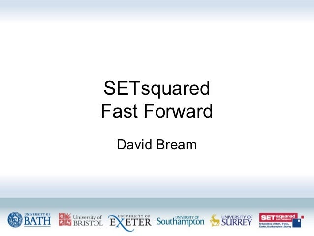 Fast forward SETsquared IP network