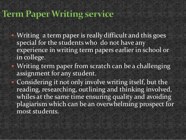 Essay and term paper writing services